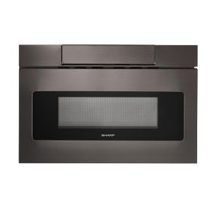 SHARP24 in. 1.2 cu. ft. 950W Sharp Black Stainless Steel Microwave Drawer Oven (SMD2470AH)