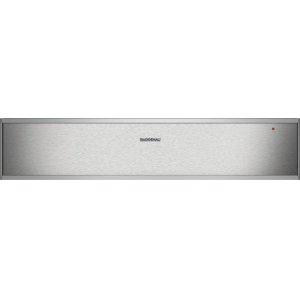 "Gaggenau400 series 400 series convection warming drawer Stainless steel-backed glass front Width 24 "" (60 cm), Height 5 3/8 (14cm)"