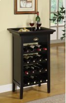 "Black with ""Merlot"" Rub through Wine Cabinet Product Image"