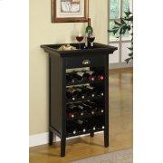 "Black with ""Merlot"" Rub through Wine Cabinet Product Image"