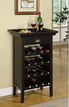 "Black with ""Merlot"" Rub through Wine Cabinet"
