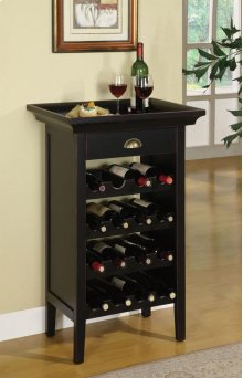 "Black with ""Merlot"" Rub through Wine Cabinet"