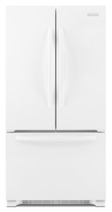 White-on-White KitchenAid® 22 Cu. Ft. Counter-Depth French Door Refrigerator, Architect® Series II