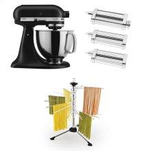 Exclusive Artisan® Series Stand Mixer & Pasta Attachments Set - Black Matte