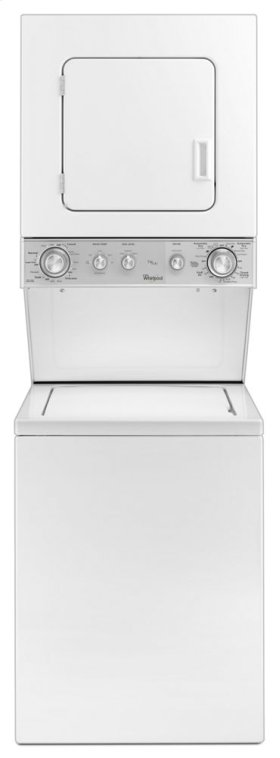 1.5 cu.ft Electric Stacked Laundry Center 5 Wash cycles and AutoDry