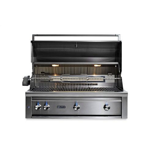 "42"" Lynx Professional Built In Grill with 1 Trident and 2 Ceramic Burners and Rotisserie, NG"