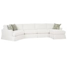 2390 LSF Angled Wedge / Armless 2 Seat Sofa / RSF Chaise Product Image