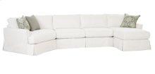 2390 LSF Angled Wedge / Armless 2 Seat Sofa / RSF Chaise