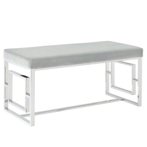 Eros Bench in Silver & Grey