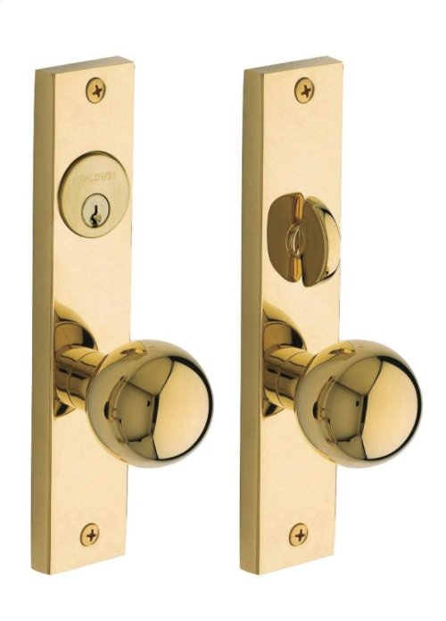 Non-Lacquered Brass Detroit Entrance Trim