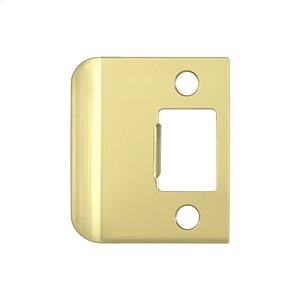 "Extended Lip Strike Plate, 2"" Overall - Polished Brass"
