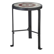 Blue Bull's-eye Stool