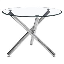 Solara II Round Dining Table in Chrome