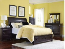 Farnsworth Sleigh Storage Bed, Queen