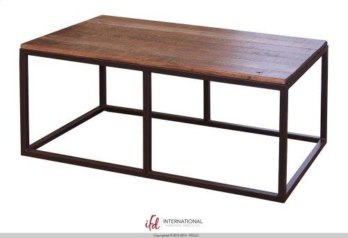 Sofa Table w/Wooden Top & Iron base
