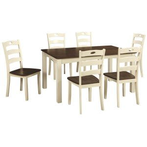 Ashley FurnitureSIGNATURE DESIGN BY ASHLEWoodanville Dining Room Table and Chairs (set of 7)