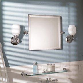 "City 212 20"" X 20"" Framed Pivoting Mirror - Satin Nickel"