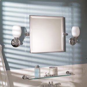 "City 212 20"" X 20"" Framed Pivoting Mirror - Satin Nickel Product Image"
