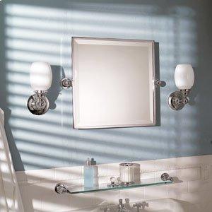"City 212 20"" X 20"" Framed Pivoting Mirror - Satin Nickel Product Image"