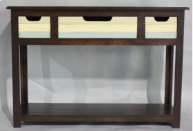 "#586 Plank Console Table 50""wx16""dx35""h"