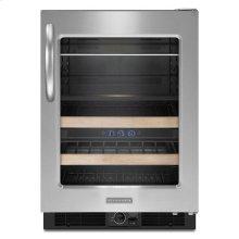 Stainless Steel KitchenAid® 24'' Beverage Center, Right-Hand Door Swing, Architect® Series II