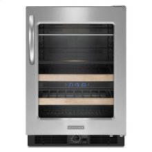 Stainless Steel KitchenAid® 24'' Beverage Center, Right-Hand Door Swing, Architect® Series II