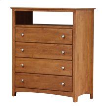 Alder Shaker 4 Drawer Entertainment Chest