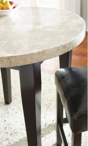 """Monarch Marble Top Counter Table, 40"""" Round, (36""""H)"""