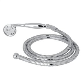Polished Chrome Perrin & Rowe Inclined Handshower And Hose with Metal Handshower