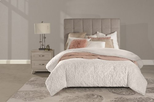 Sylvia King Headboard With Frame - Luminata Silver