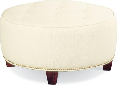 Brooklyn Round Button Top Ottoman (#52 Nails)