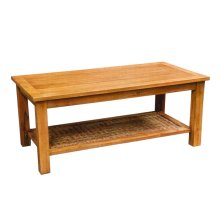 Coffee Table, Available in Antique Cream Finish Only.