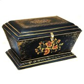 Hand Painted Iron Box Black