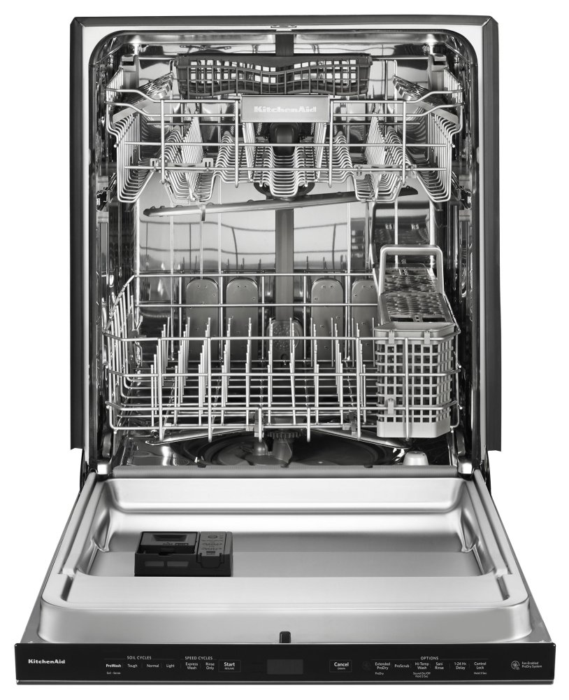 44 Dba Dishwashers With Clean Water Wash System And Printshield Finish,  Pocket Handle   Black Stainless