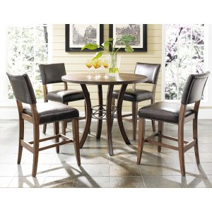Hillsdale FurnitureCameron 5pc Counter Height Round Wood Dining Set With Parson Stools