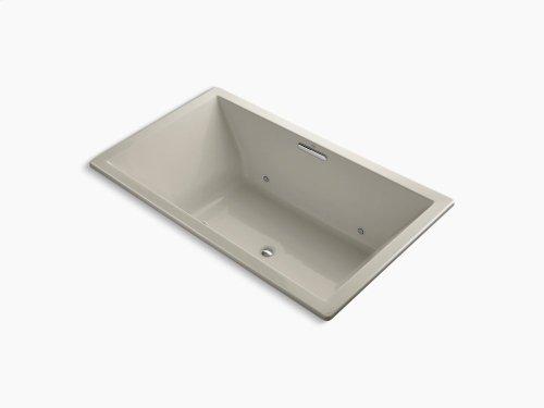 "Sandbar 72"" X 42"" Drop-in Bubblemassage Air Bath With Chromatherapy and Center Drain"