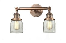 208-AC-G52 - SMALL GLASS BELL 2 LT WALL SCONCE