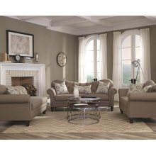 Carnahan Traditional Stone Grey Loveseat
