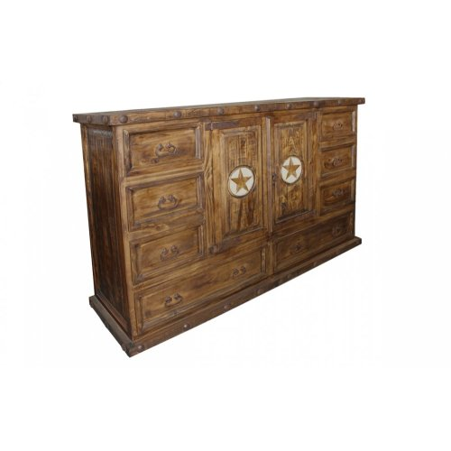 Laredo 8 Drawer 2 Door Dresser