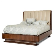 Cal King Channel Tufted Bed (4 Pc)