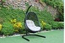 Renava Havana Outdoor Black & Beige Hanging Chair Product Image