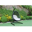 Renava Havana Outdoor Black & Beige Hanging Chair Product Image