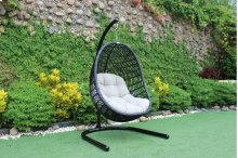 Renava Havana Outdoor Black & Beige Hanging Chair