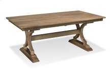 "Hamptons Trestle Table,, Hamptons Trestle Table, 42""x66"", 1-18"" Stationary Butterfly Leaf on Each End"