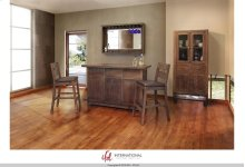Wooden Bar Top & Base w/Iron footrest