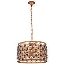 """Madison Collection Chandelier D:20"""" H:13"""" Lt:6 Golden Iron Finish Royal Cut Crystal (Clear)"""