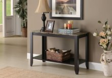 "ACCENT TABLE - 44""L / CAPPUCCINO MARBLE TOP"