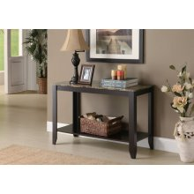 """ACCENT TABLE - 44""""L / CAPPUCCINO MARBLE TOP"""