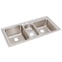 "Elkay Lustertone Classic Stainless Steel 43"" x 22"" x 10"", Triple Bowl Drop-in Sink"