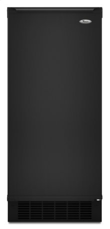 Black-on-Black Whirlpool® 50 lb. Ice Maker